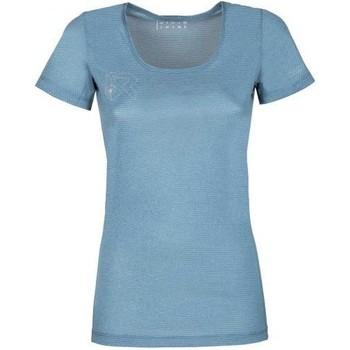 Clothing Women Short-sleeved t-shirts Rock Experience T-shirt Femme  Offsets Cams SS bleu clair
