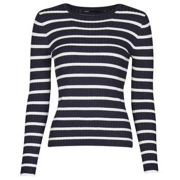 Clothing Women Jumpers Only ONLNATALIA Marine / White