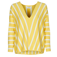Clothing Women Jumpers Only ONLAYA Yellow / White