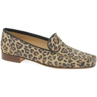 Shoes Women Loafers Charles Clinkard Leopard Womens Moccasins brown