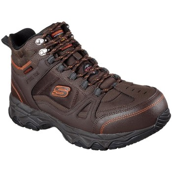 Shoes Men Safety shoes Skechers Ledom Mens Safety Boots brown