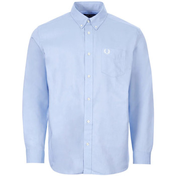 Clothing Men Long-sleeved shirts Fred Perry M8501 BLU