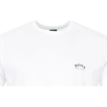 Clothing Men Short-sleeved t-shirts BOSS Athleisure T-Shirt Curved - White