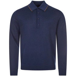 Clothing Men Long-sleeved polo shirts Paul Smith Long Sleeve Polo Shirt Knitted - Navy
