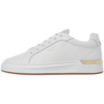 Shoes Men Fitness / Training Mallet GRFTR Leather Trainers - White / Gold