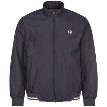 Clothing Men Jackets Fred Perry Brentham Jacket - Navy