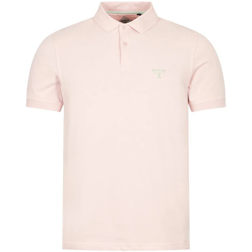 Clothing Men Short-sleeved polo shirts Barbour Polo Shirt - Antique Candy