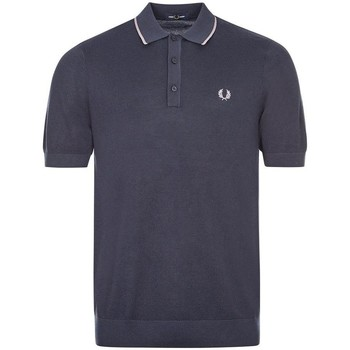 Clothing Men Short-sleeved polo shirts Fred Perry Knitted Polo - Dark Airforce