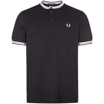 Clothing Men Short-sleeved polo shirts Fred Perry Henley Polo Shirt - Navy