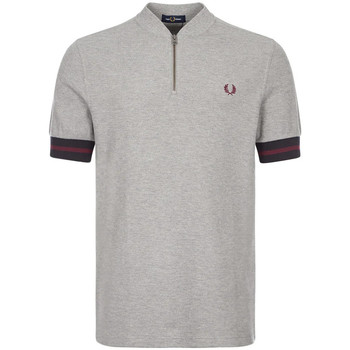 Clothing Men Short-sleeved polo shirts Fred Perry Polo Shirt Zip Neck - Steel Marl