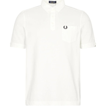Clothing Men Short-sleeved polo shirts Fred Perry Button Down Collar Polo - Snow White