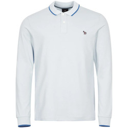 Clothing Men Long-sleeved polo shirts Paul Smith Long Sleeve Polo Tipped - Blue