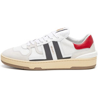 Shoes Men Trainers Lanvin Clay Low Top Trainers - White / Grey / Red