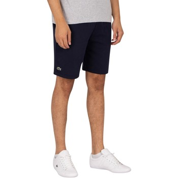 Clothing Men Shorts / Bermudas Lacoste Logo Sweat Shorts blue
