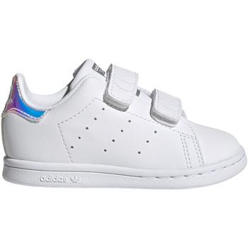 Shoes Children Low top trainers adidas Originals Baskets enfant  Stan Smith blanc/blanc/argent