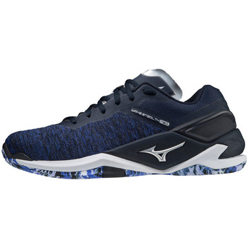 Shoes Indoor sports trainers Mizuno Chaussures  Wave Stealth Neo bleu marine/argent