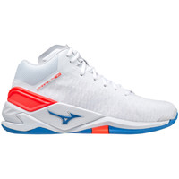 Shoes Indoor sports trainers Mizuno Chaussures  Wave Stealth Neo Mid blanc/rouge/bleu