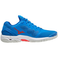 Shoes Indoor sports trainers Mizuno Chaussures  Wave Stealth V bleu/blanc/rouge
