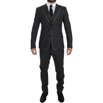 Clothing Men Suits D&G Gray Striped 3 35