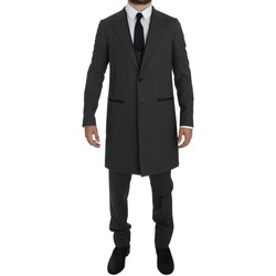 Clothing Men Suits D&G Gray Wool Stre 35