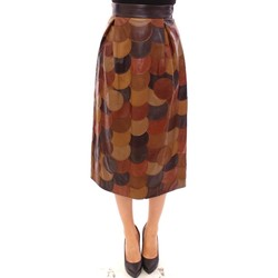 Clothing Women Skirts D&G Brown Patchwor 28