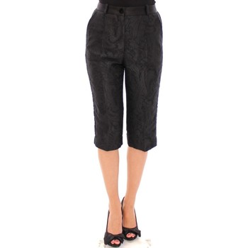 Clothing Women Cropped trousers D&G Black Baroque 38