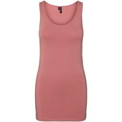 Clothing Women Tops / Sleeveless T-shirts Vero Moda Débardeur femme  vmmaxi old rose