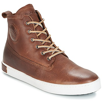 Shoes Men Hi top trainers Blackstone INCH WORKER ON FOXING FUR Brown