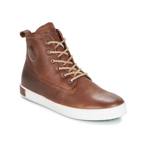 Shoes Men Hi top trainers Blackstone INCH WORKER ON FOXING FUR Brown