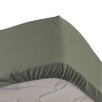 Home Fitted sheet Douceur d intérieur PERCALINE Kaki
