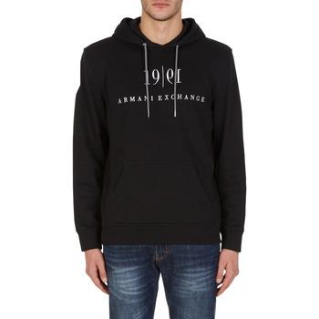 Clothing Sweaters EAX Sweat à capuche  6KZMFM-ZJ6HZ-1200 noir noir