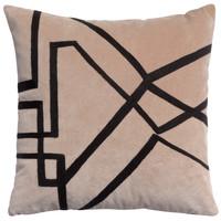 Home Cushions covers Vivaraise FARA BRODE Beige