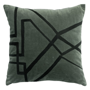 Home Cushions covers Vivaraise FARA BRODE Grey