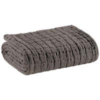 Home Blankets, throws Vivaraise SWAMI Grey / Asphalt