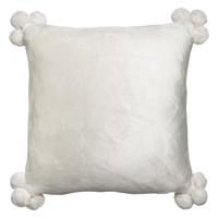 Home Cushions covers Vivaraise TENDER POMPONS White