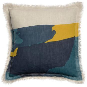 Home Cushions covers Vivaraise ZEFF NAIA Blue / Ink