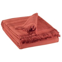 Home Towel and flannel Vivaraise CANCUN Brick red