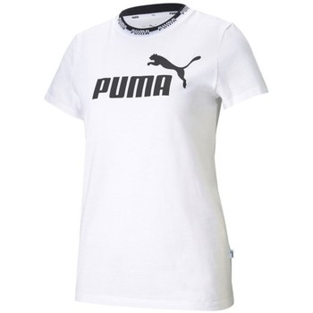 Clothing Women Short-sleeved t-shirts Puma Amplified Graphic White