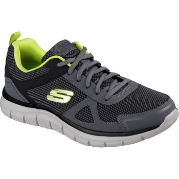 Shoes Men Low top trainers Skechers 52630-CCLM-060 Track Bucolo Charcoal Lime