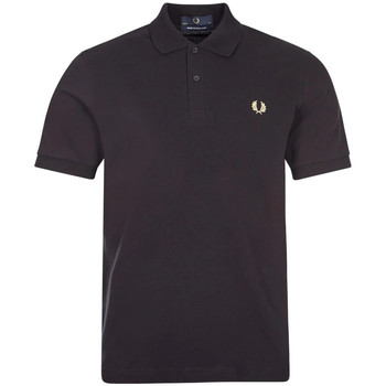 Clothing Men Short-sleeved polo shirts Fred Perry Polo Shirt - Black / Champagne