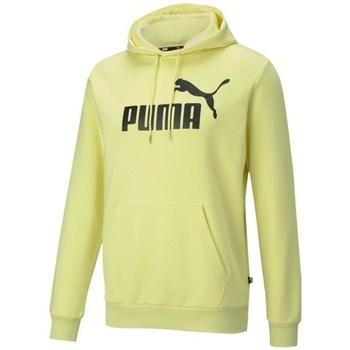 Clothing Men Sweaters Puma Essentials Big Logo Hoodie Yellow