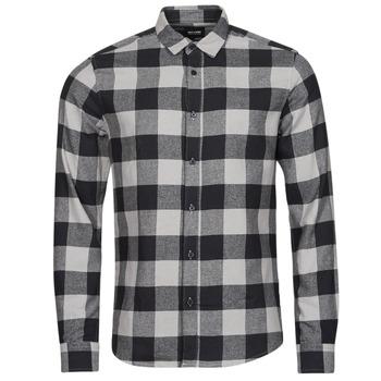 Clothing Men Long-sleeved shirts Only & Sons  ONSGUDMUND Black / White