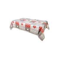 Home Tablecloth Habitable CHALETS - ROUGE - 140X200 CM Red