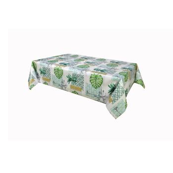 Home Tablecloth Habitable PALMIER - VERT - 140X200 CM Green