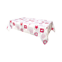 Home Tablecloth Habitable AUDREY - ROUGE - 140X200 CM Red