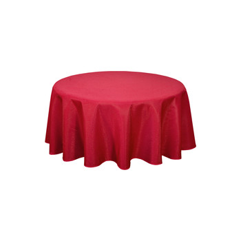 Home Tablecloth Habitable NORWICH - ROUGE - DIAM 180 CM Red