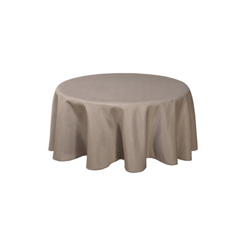 Home Tablecloth Habitable NORWICH - TAUPE - DIAM 180 CM Taupe