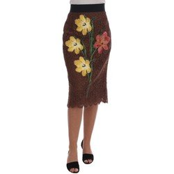 Clothing Women Skirts D&G Brown Floral L 28