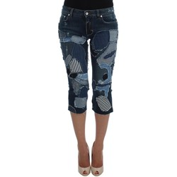 Clothing Women Cropped trousers D&G Stretch Blue P 19