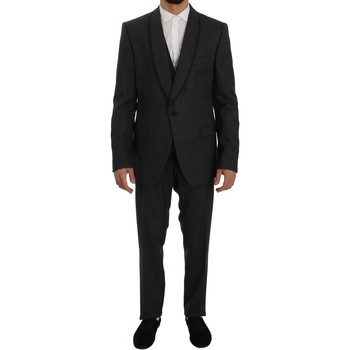 Clothing Men Suits D&G Gray Striped W 35